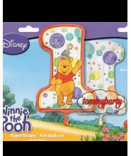 Super Shape Pooh 1ST Birthday palloncino