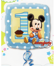 "Baby Mickey 18"" 1° compleanno palloncino"