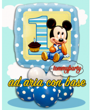 "Baby Mickey 18"" 1 compleanno composizione"