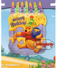 SS G BL Winnie Cake With Candle