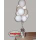 Ciuffo 18 anni palloncini gonfiati ad elio