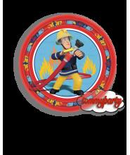 Sam Il Pompiere piatti 23 cm