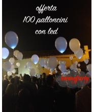 Offerta Palloncini 12 pollici ad elio + Led pz.100