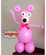 Composizione Orso Baby Rosa