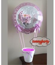 Cestino Nascita porta confetti con vaso