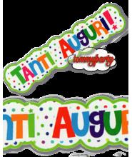 Festone 1 Mt. Tanti Auguri multicolor