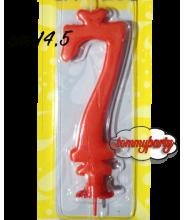 Candela rossa n.7 Max cera