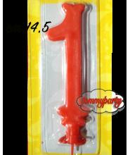 Candela rossa n.1 Max cera