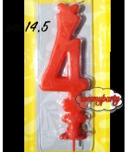 Candela rossa n.4 Max cera