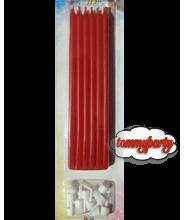 Candele matite rosse pz.12