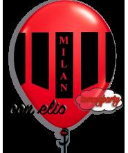 Palloncino stampa Milan 12 pollici/cm.30 gonfiato ad elio