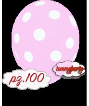 "Palloncini 12"" stampa globo pois rosa chiaro 100"