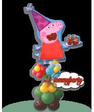 Peppa Pig s.s. ad elio + base con fiori