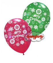 "Palloncini 12"" Decorati ""Christmas Neve"" pz.100"