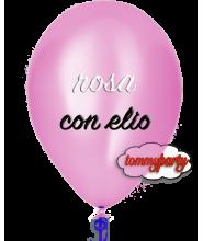 Palloncino rosa metallizzato 14 pollici/cm.35 gonfiato ad elio