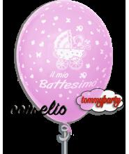 Palloncino Il Mio Battesimo rosa 12 pollici/cm.30 gonfiato ad elio