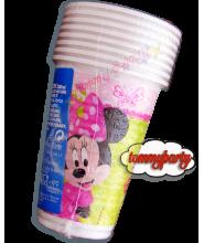 Minnie Bow-Tique 8 bicchieri plastica
