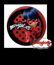 Ladybug Miraculous 8 piattini