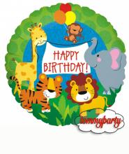 """Palloncino Compleanno nella giungla 18"""""""