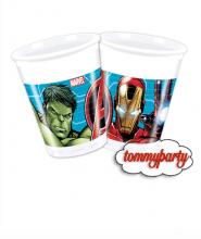Avengers Mighty 8 bicchieri plastica