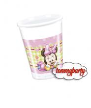 Baby Minnie 8 bicchieri plastica