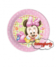 Baby Minnie 8 piattini 18 cm
