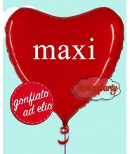 "Palloncino cuore mylar 36"" ad elio"