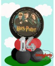 Centrotavola Harry Potter + numero 14 + adesivo