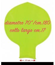 Pallone collo largo 70 pollici/ cm.180 pz.1