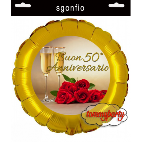 Palloncino Dei 50 Anni Di Matrimonio Da Gonfiare Ad Elio O Ad Aria
