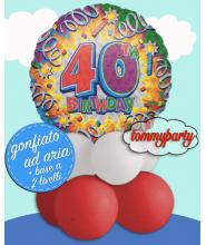 "Centrotavola 18"" Birthday Explosion 40 s60"