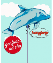 Delfino Blu Supershape palloncino ad elio