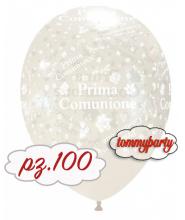 """Palloncini 12"""" stampa sul globo Prima Comunione pz.100"""