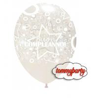 """Palloncini 12"""" buon compleanno matto pz.100"""