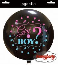 """Palloncino 36""""/cm.90 Boy or Girl"""