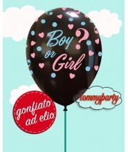 """Palloncino Boy or Girl 12"""" gonfiato ad elio"""