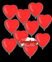 Palloncini pz.10 cuore 6 pollici/cm.15 gonfiato ad elio