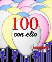 Offerta 100 Palloncini pastello gonfiati ad elio