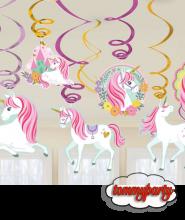Swirl decorazione Magical Unicorn 12pz