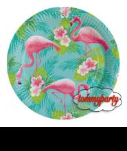 """Piatto grande Fenicottero """"Flamingo Paradise"""" pz.8"""