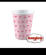 """Bicchieri Fenicottero """"Flamingo Paradise"""" pz.8"""