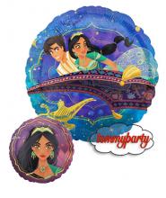 "Palloncino 18"" mylar Aladdin e Jasmine"