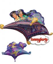 """Palloncino 42"""" Super Shape mylar Aladdin """"Aladin e Jasmine"""""""
