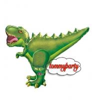 "Palloncino 35"" Super Shape mylar T-Rex Dinosauro"