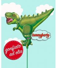 "Palloncino ad elio 35"" S. S. mylar T-Rex Dinosauro"
