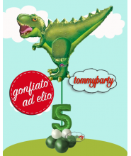 """Composizione 35"""" S. Shape T-Rex Dinosauro e numero"""