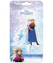 Candelina Piatta Frozen Snowflakes 1pz