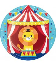 "Piatto Piccolo Circo ""Circus Party"" 8 pz"