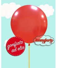 "Palloncino 19"" cm.48 rosso metal. ad elio"
