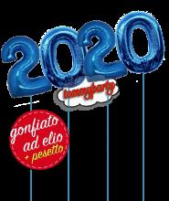 Composizione 2019 numerone cm.100 ad elio